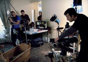 Serpent's Lullaby Crew on Set