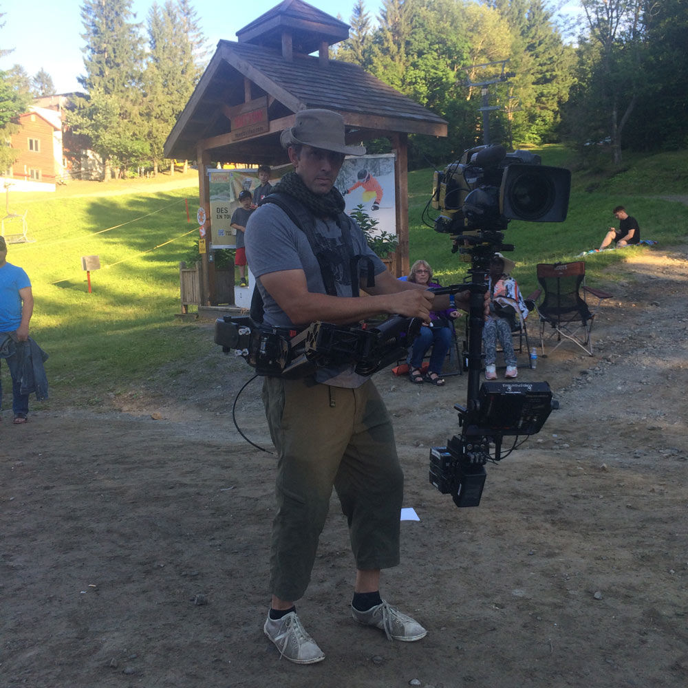 Director of photography Richard Duquette with a SteadyCam