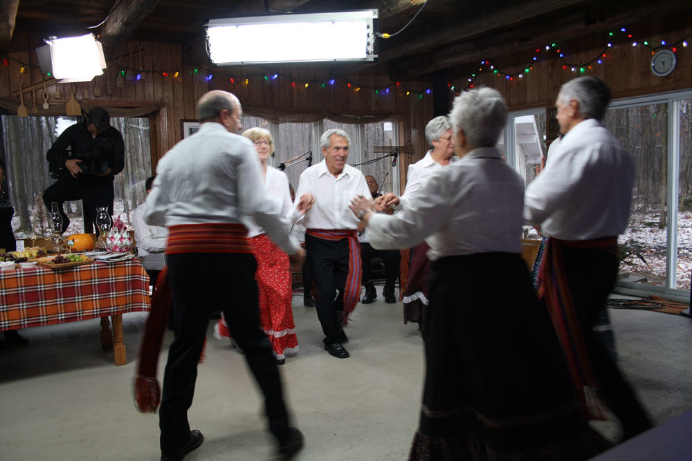 Canadian dancing in a sugar shack