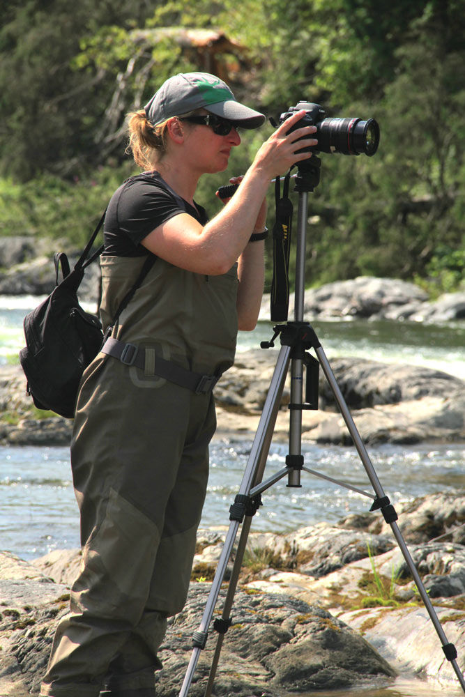 King of the river - Film Fixer Canada CameraWoman at her post
