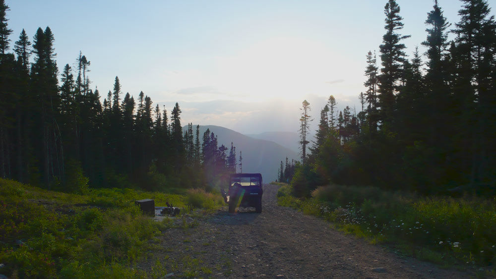 King of the river - Film Fixer on the mountain near the Saguenay river easter Quebec