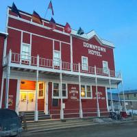The Downtown Hood in Dawson City, Yukon. One of the mythical places of the late 19th century gold rush, as tens of thousands of adventurers flocked to Dawson City in search of wealth. For more than 100 years, the Downtown Hotel has become a gathering place in the heart of the city.