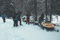 Filming in canada documentary film fixer the great trails winter sports going hunting for the tv show on a snow mobile