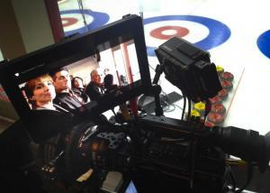 Sweeping Forward camera DP7 screen actors reshoot Ice arena montreal