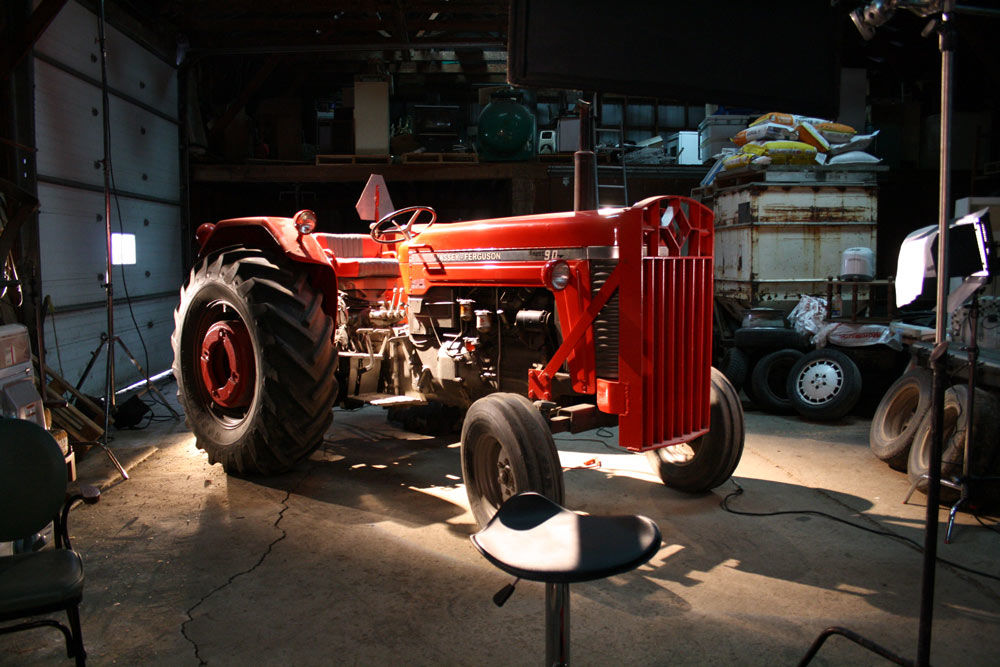 A nice Massey Fergusson ready for an interview