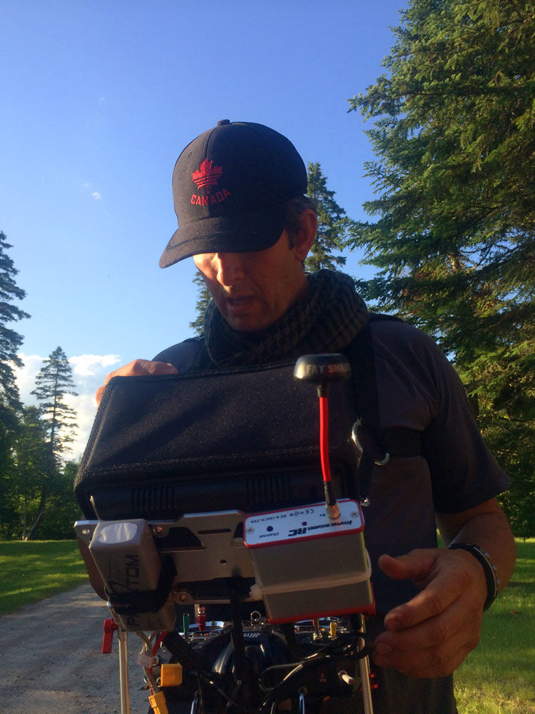 King of the river - Film Fixer Canada Getting ready for the drone