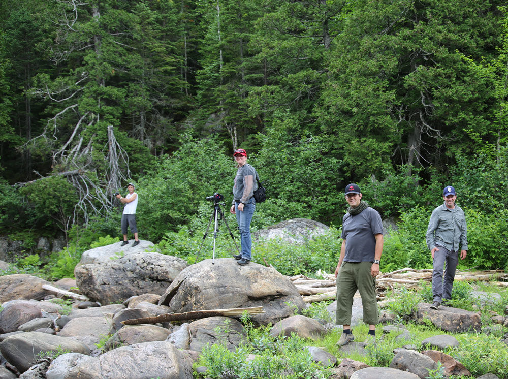 King of the river - Film Fixer Canada - the crew with Andre Paradis host of the show